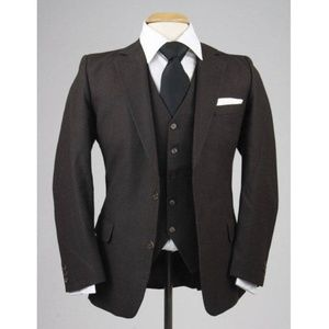 Vintage 80s Men's Pinstripe 3 Piece Vested Suit